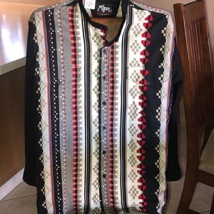 Roper Sport sz Lg men's Aztec long sleeve shirt